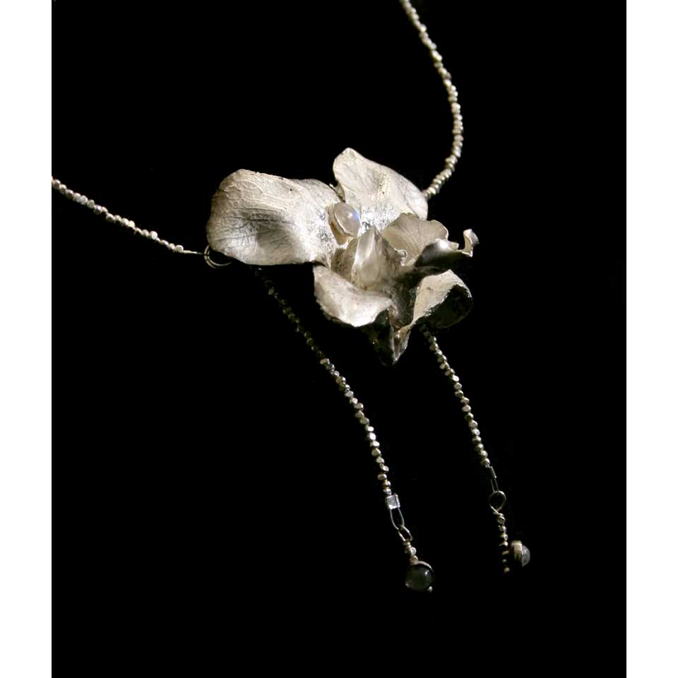 Orchid necklace by Kathleen Carricaburu