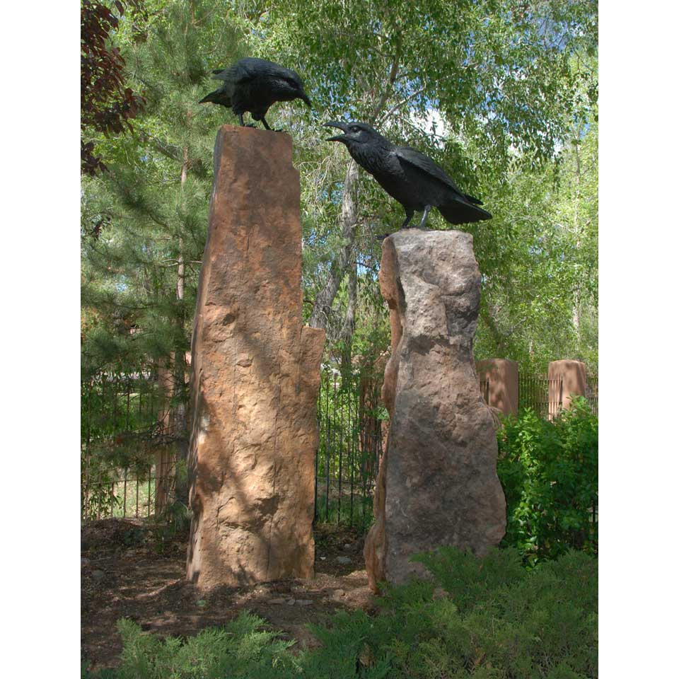 Raven A & B on stone by Jim Eppler