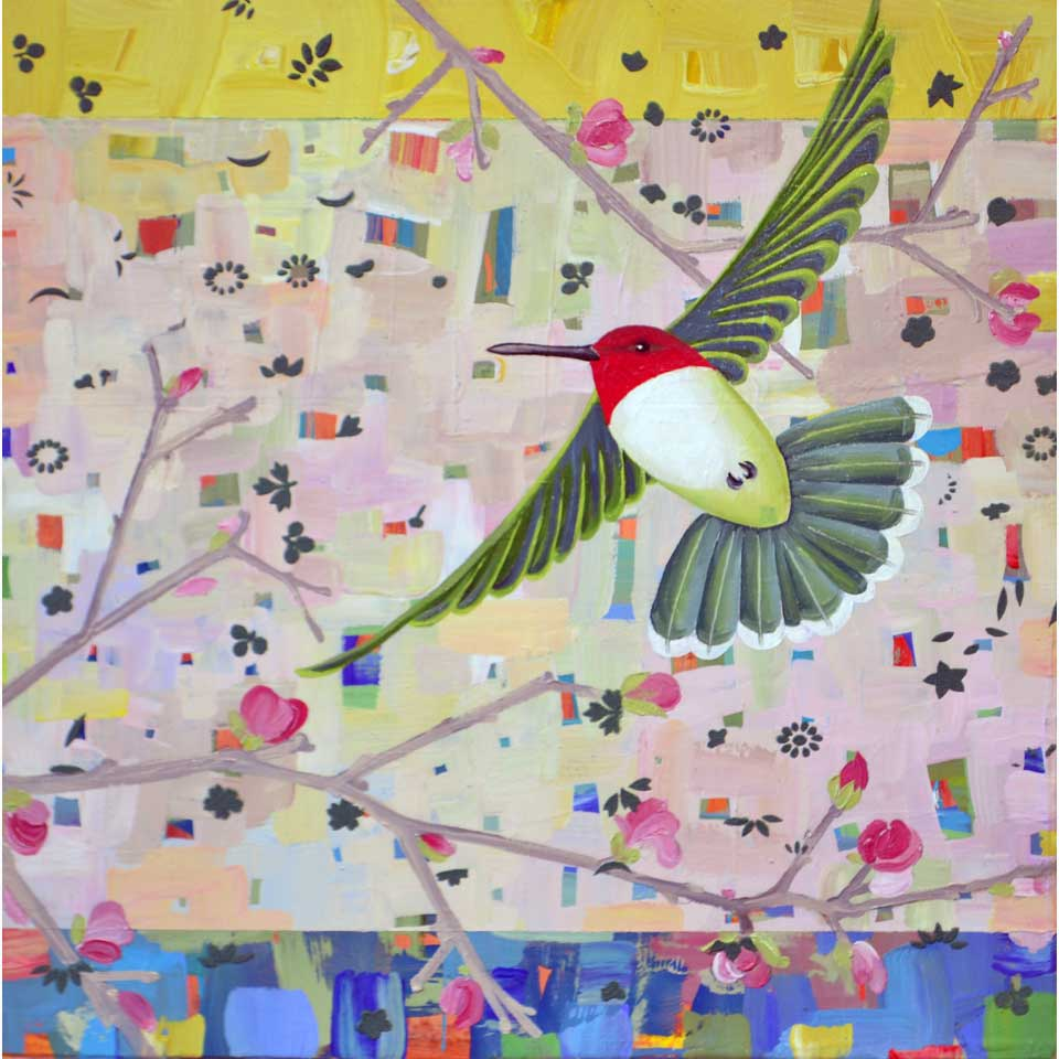 Flower Sipper In Flight by Diana Stetson
