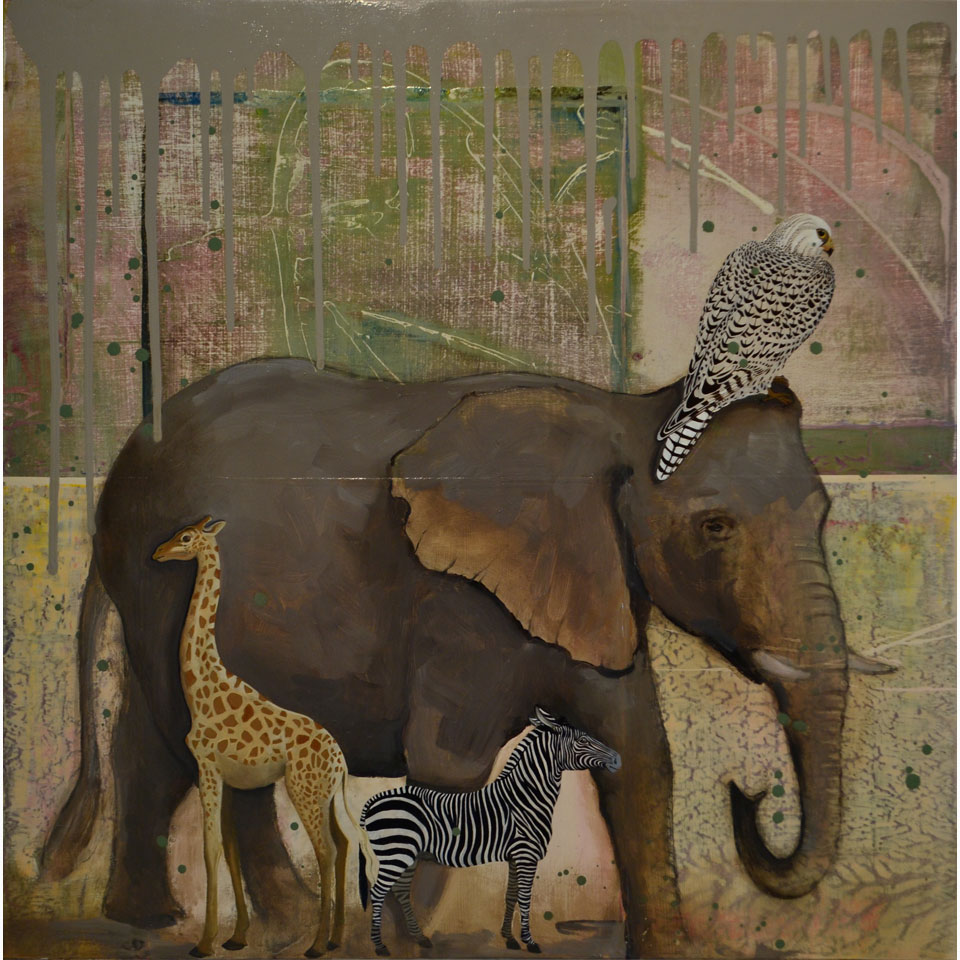 Protecting Elephant by Diana Stetson