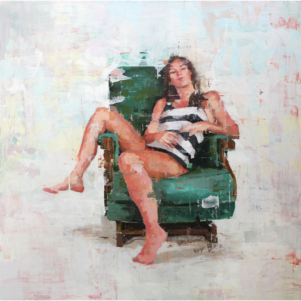 Woman In Green Chair by Trent Call