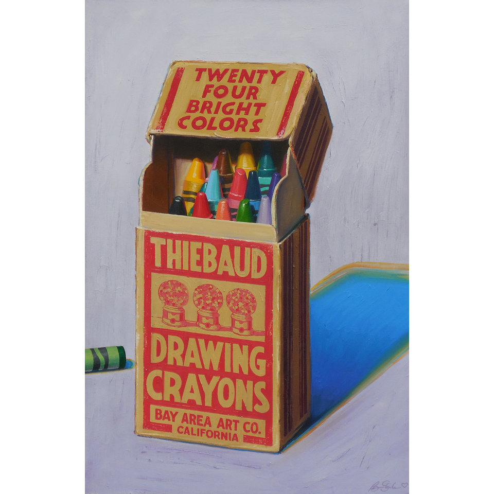 Thiebaud Drawing Crayons by Ben Steele