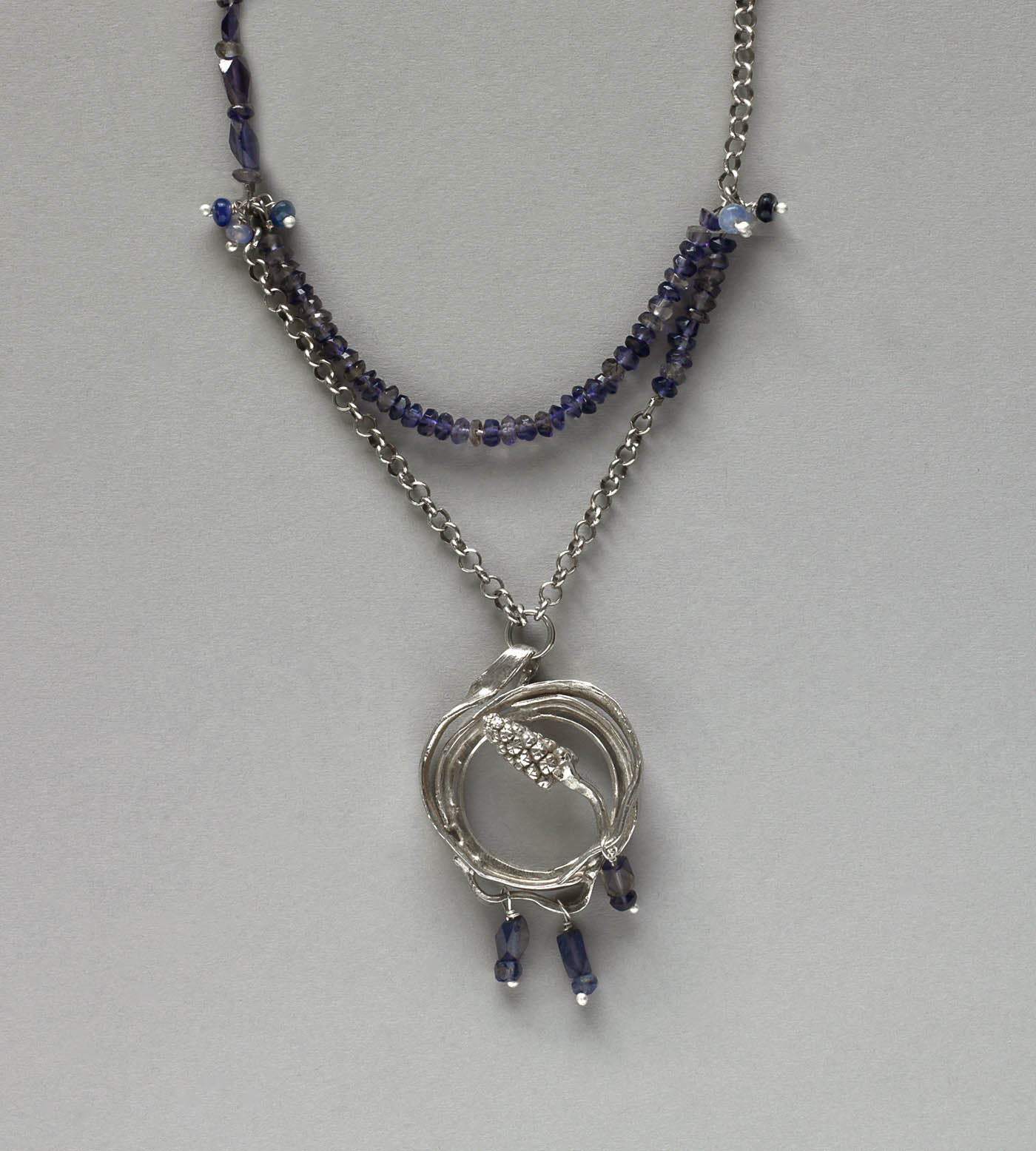 Grape Hyacinth Necklace by Kathleen Carricaburu