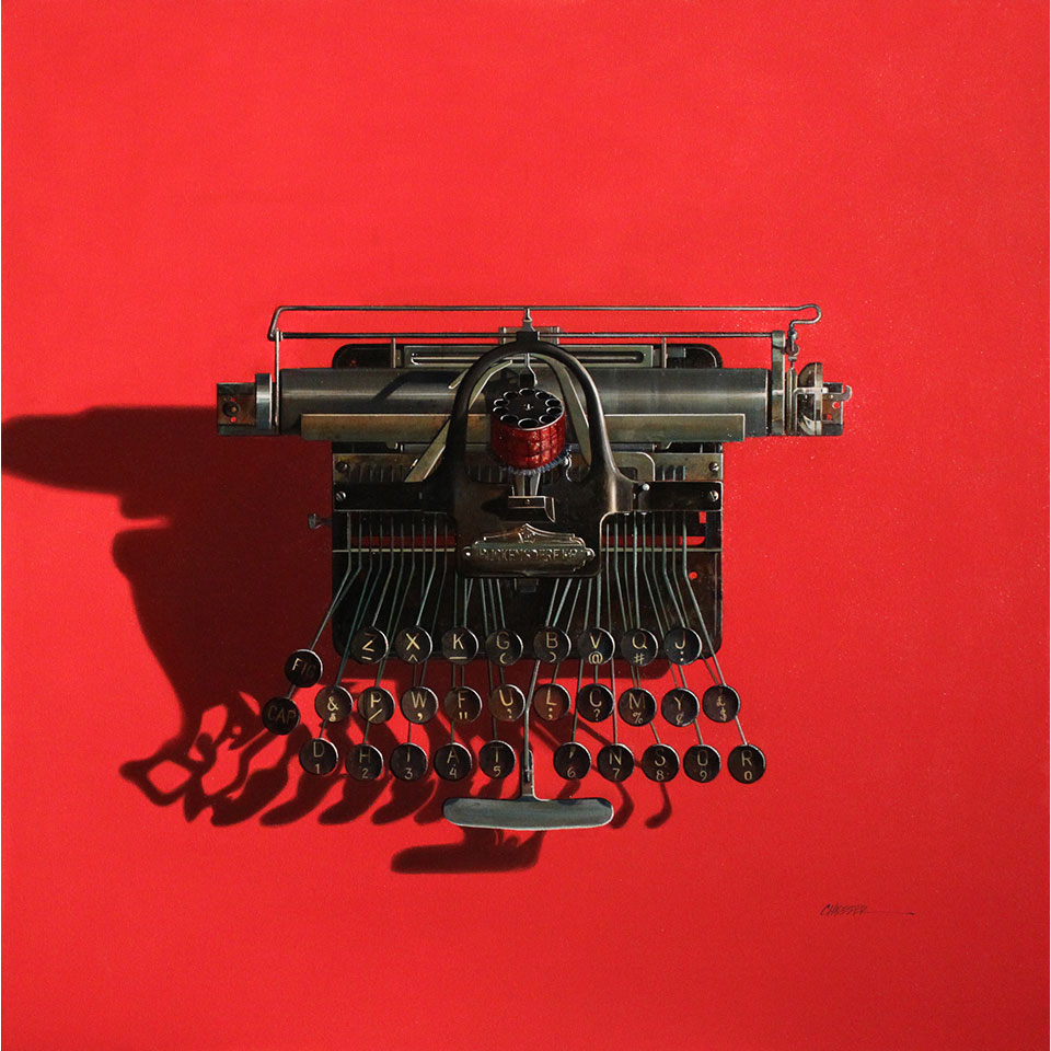 Blickensderfer No.5 on Red by Wendy Chidester