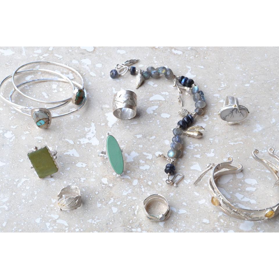 Bracelets & Rings by Kathleen Carricaburu