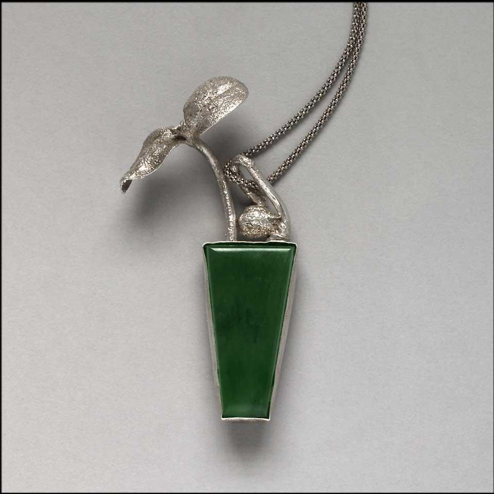 """Thaw"" pendant by Kathleen Carricaburu"