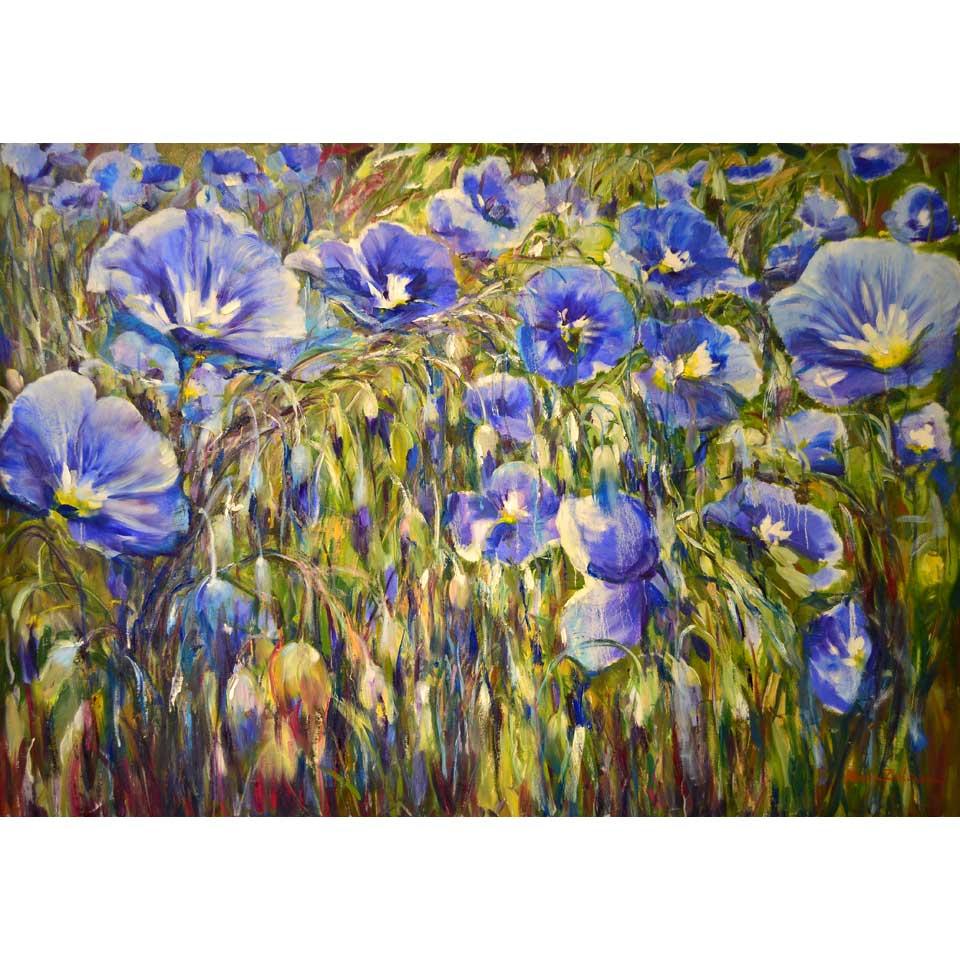 Blue Linen by Maria Zielinska