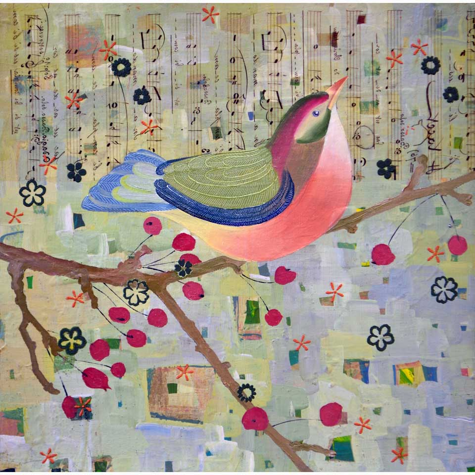 Bird Of Color Listening by Diana Stetson