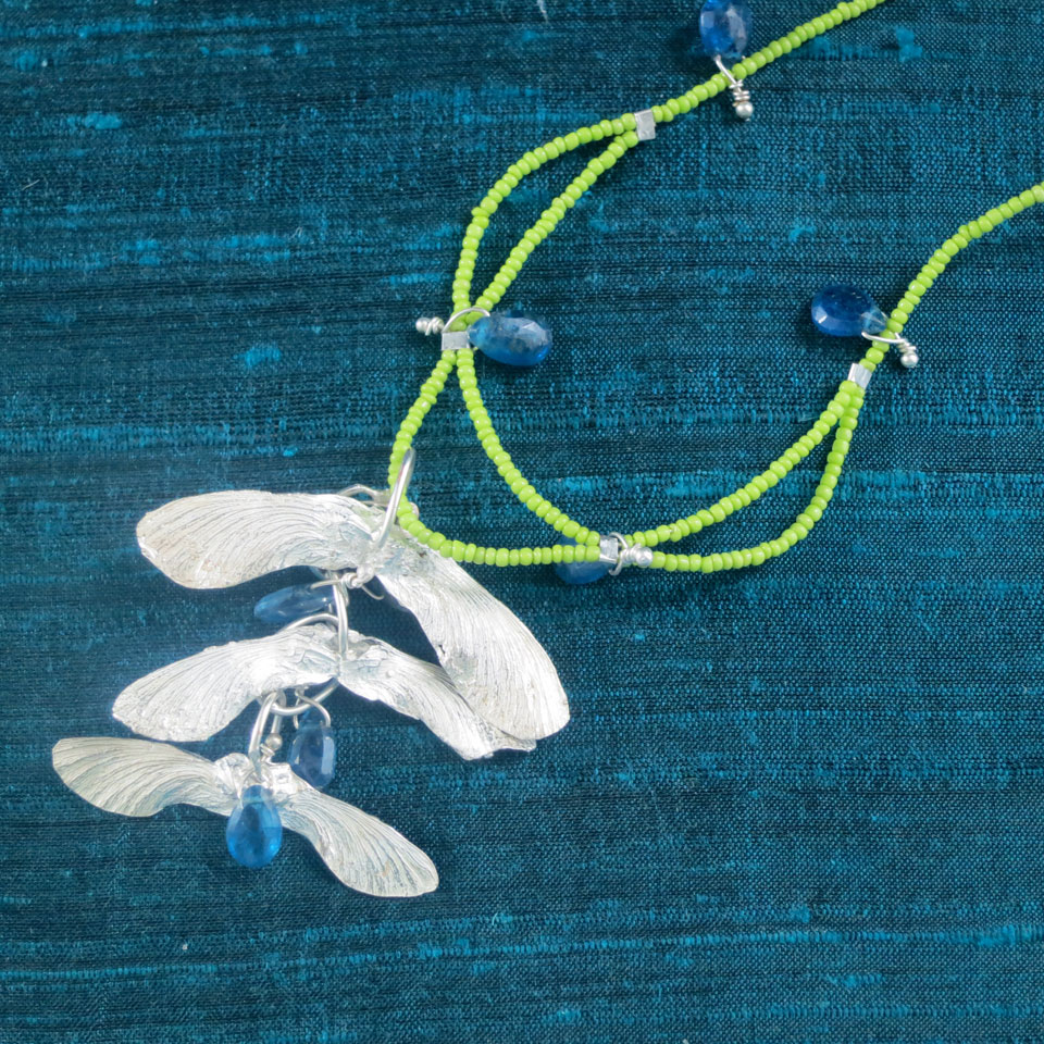 Falling Maple Seed Necklace by Kathleen Carricaburu
