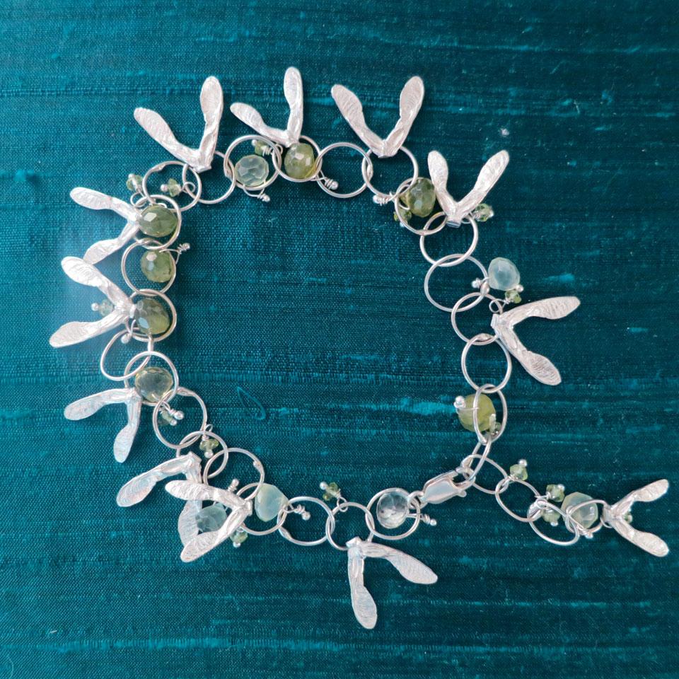 Falling Maple Seed Bracelet by Kathleen Carricaburu