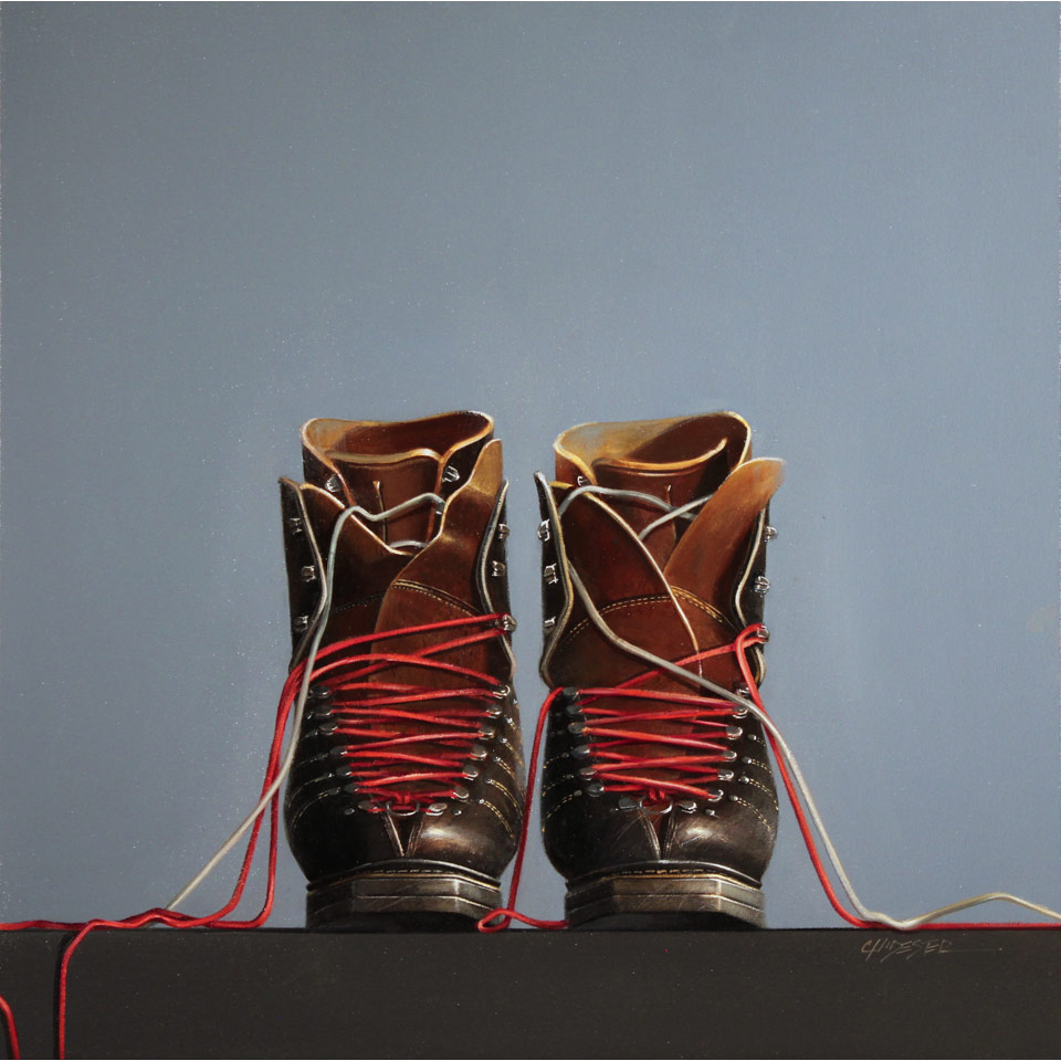 Double Lace Ups by Wendy Chidester