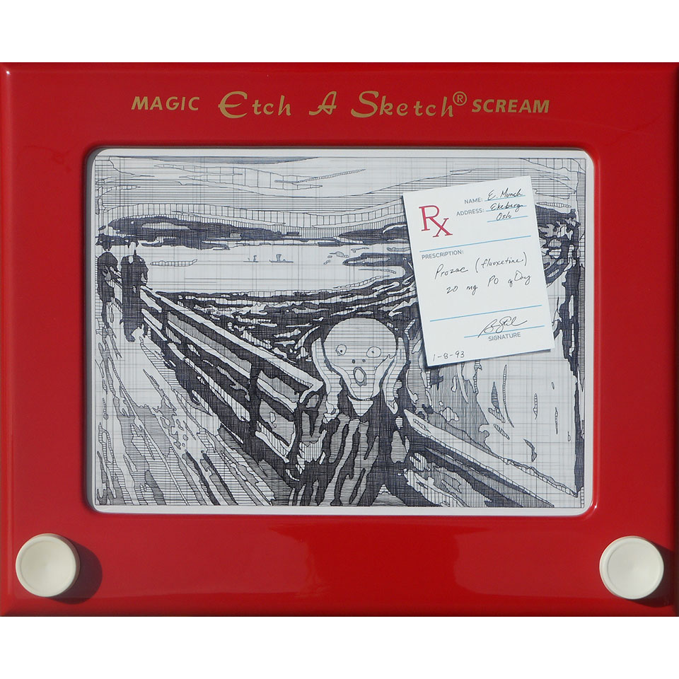 Etch A Sketch Scream by Ben Steele