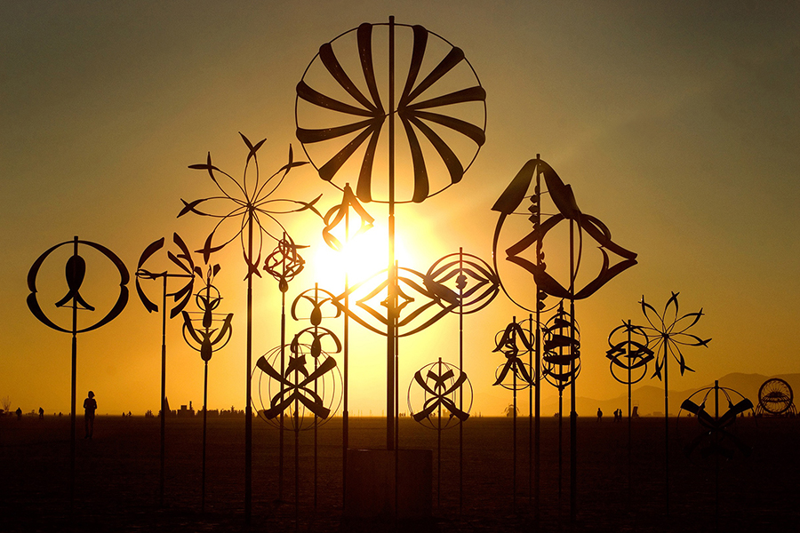 Celebrate spring with Lyman Whitaker wind sculpture