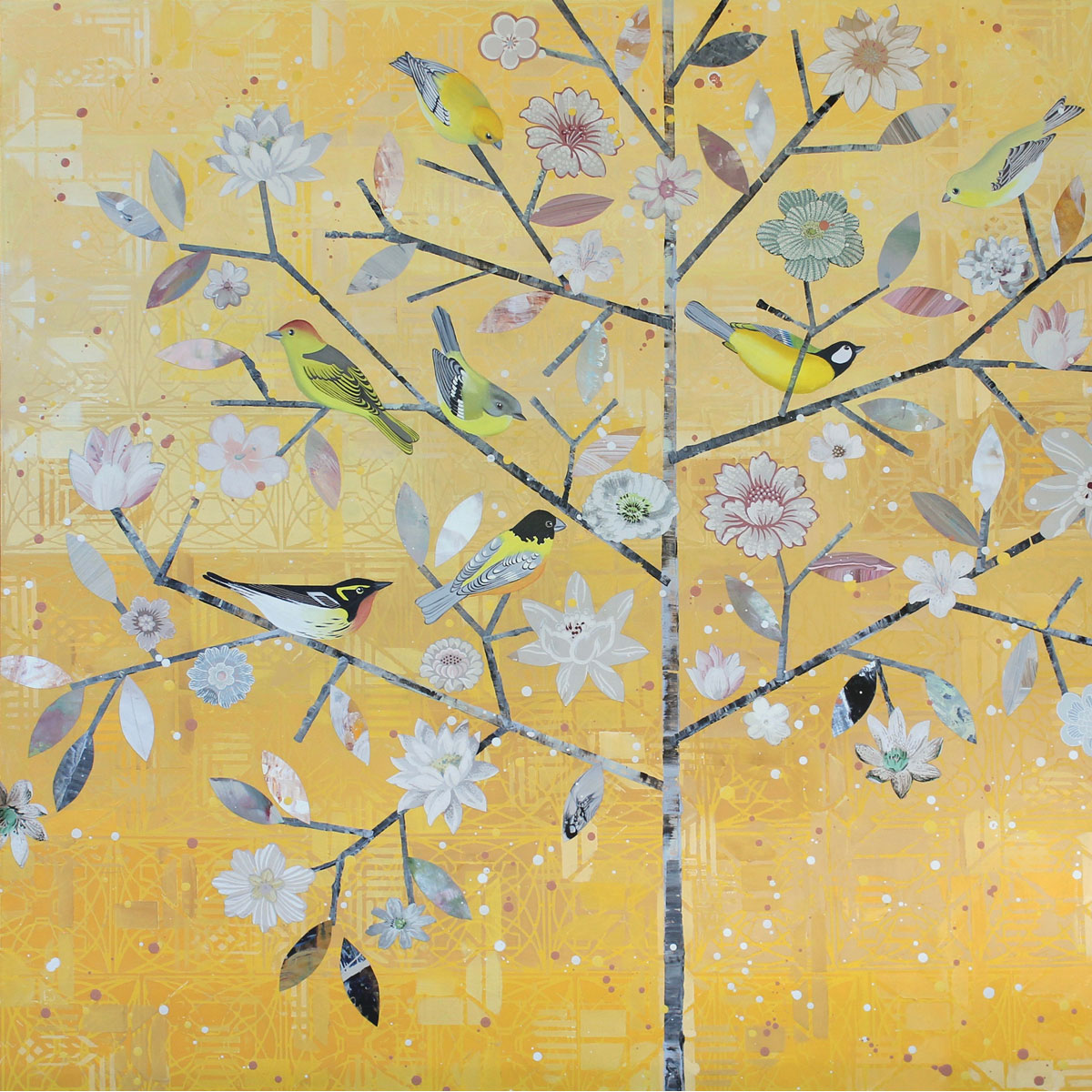 Tree Of White Flowers by Diana Stetson
