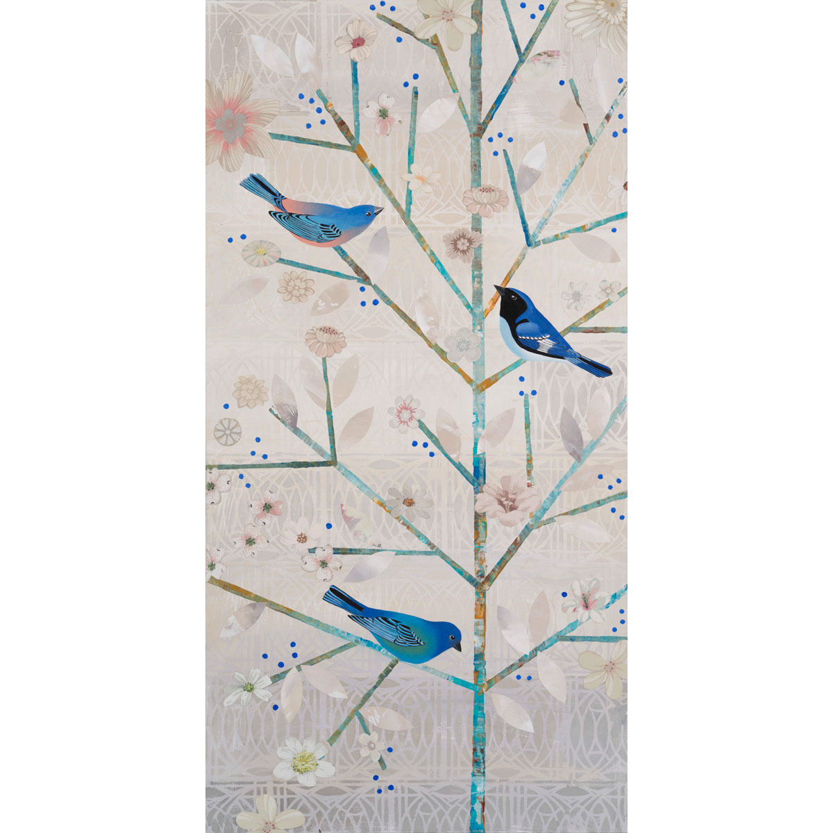 White Tree Blue Bird by Diana Stetson
