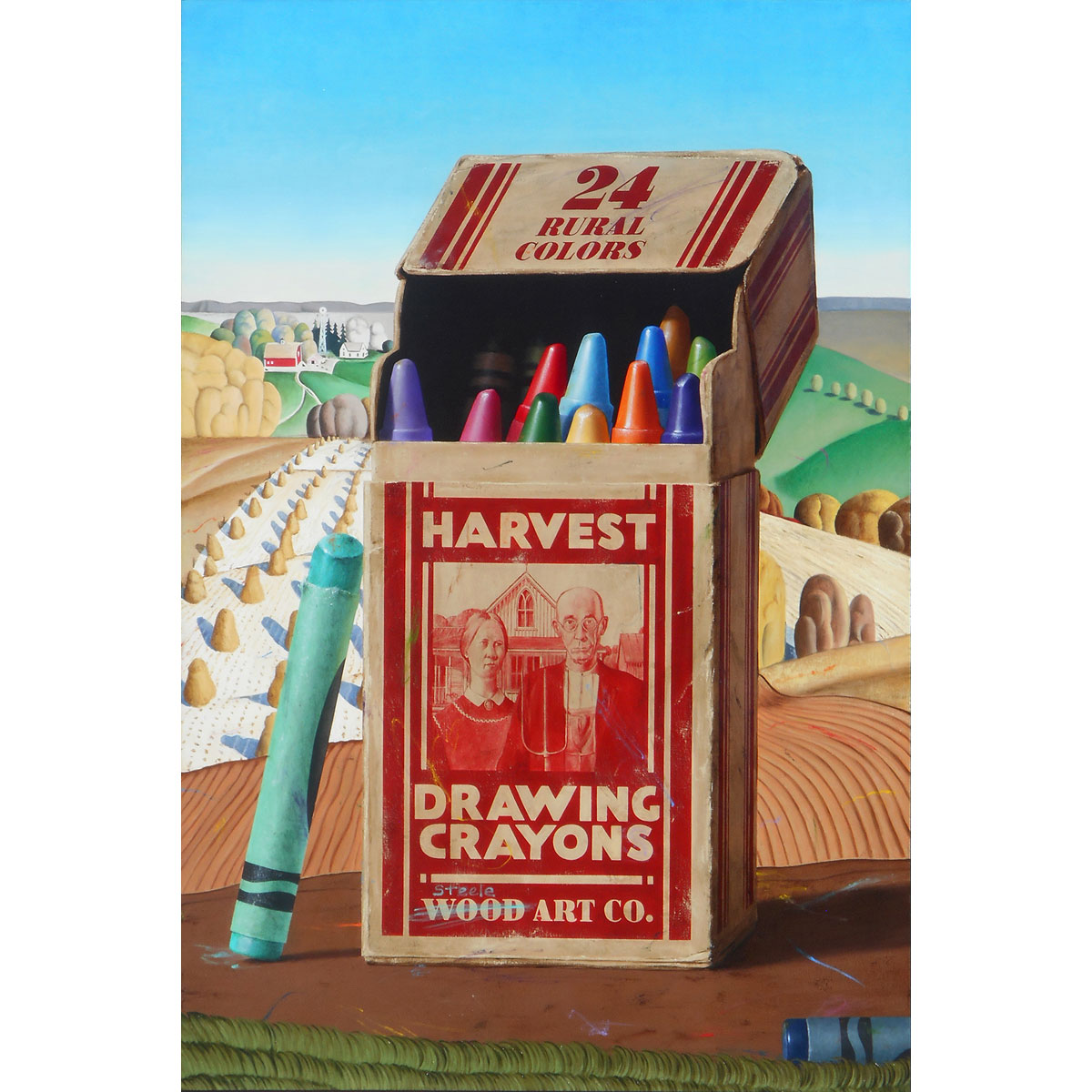 Harvest Crayons by Ben Steele