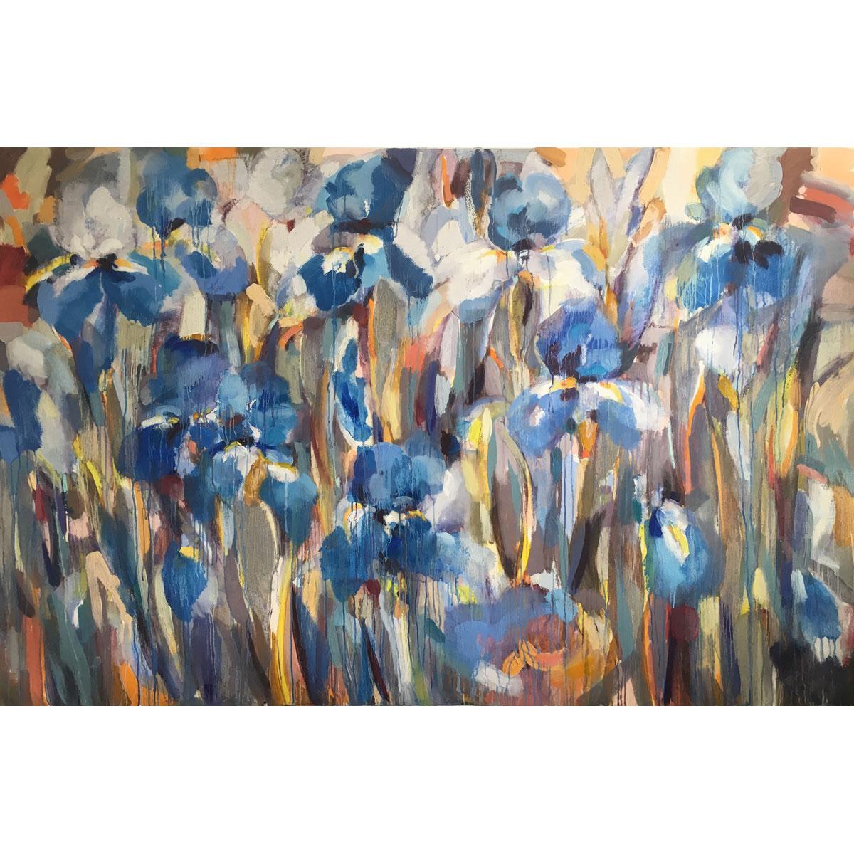 Blue Iris by Maria Zielinska