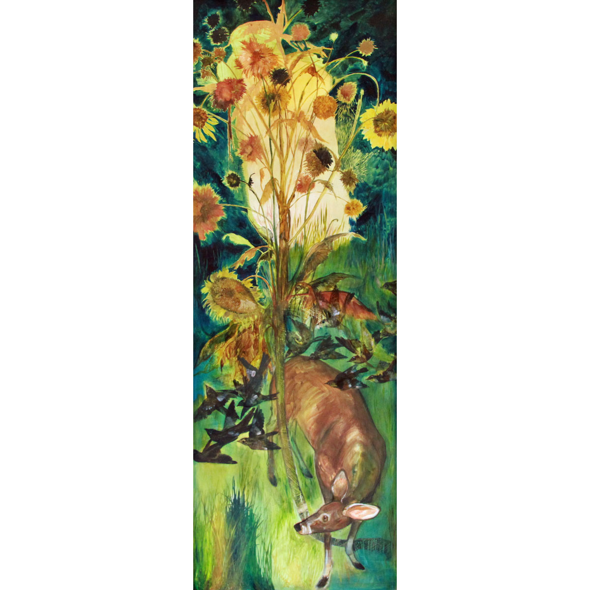 Sunflower Totem by Diane Kilgore Condon